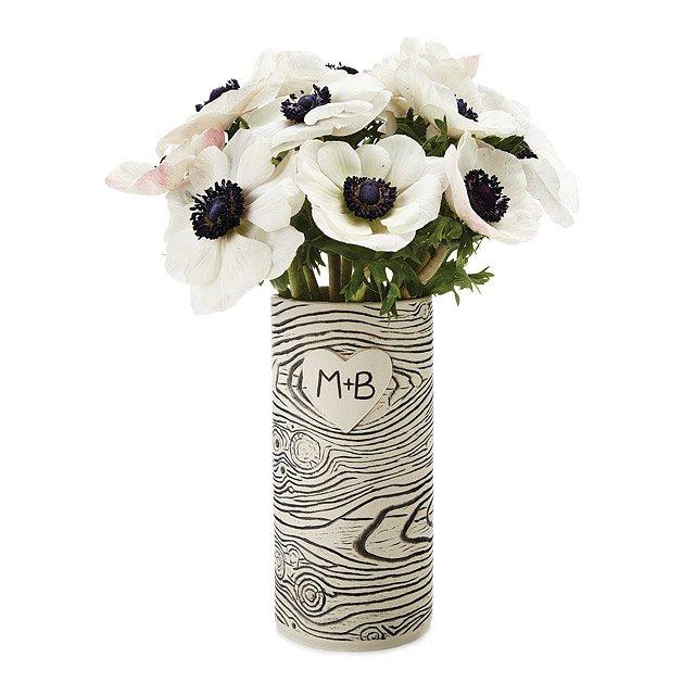 Faux Bois Personalized Vase Ceramic Flower Vase Uncommongoods