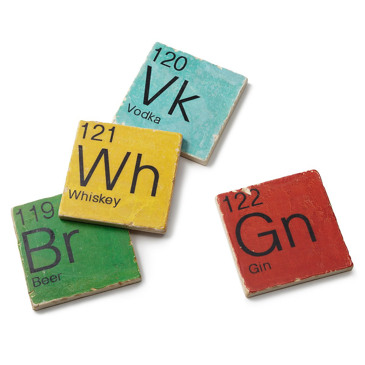 mixology coasters  set of   periodic table beer whiskey gin  - mixology coasters  set of   thumbnail
