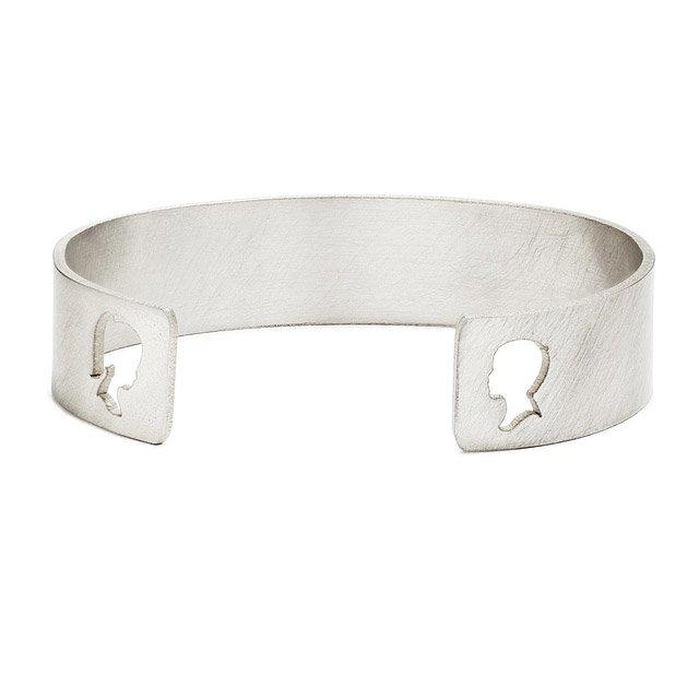 Custom Silhouette Cuff Bracelet | sterling silver bracelet