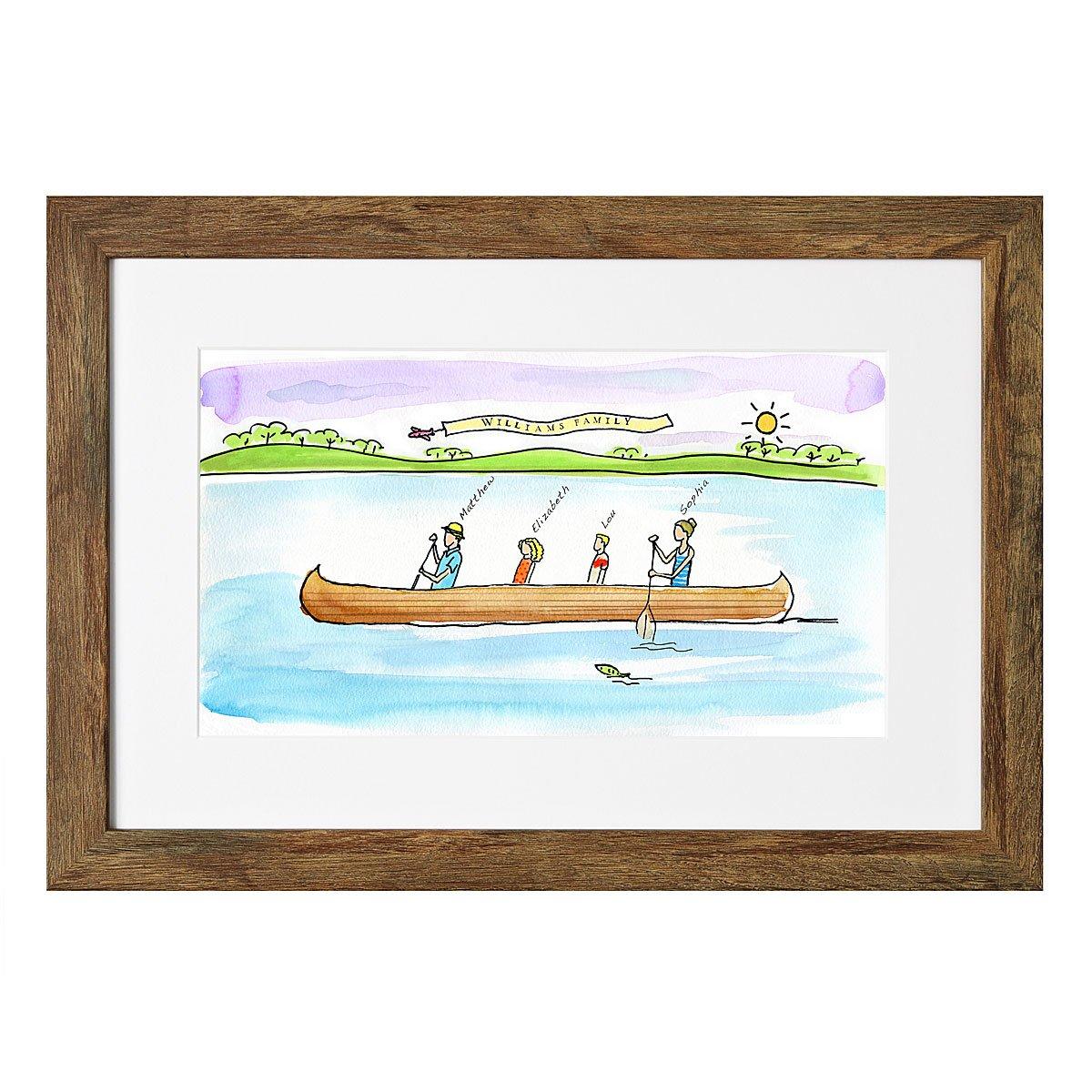 Personalized Family Canoe Art | personalized, custom, family ...