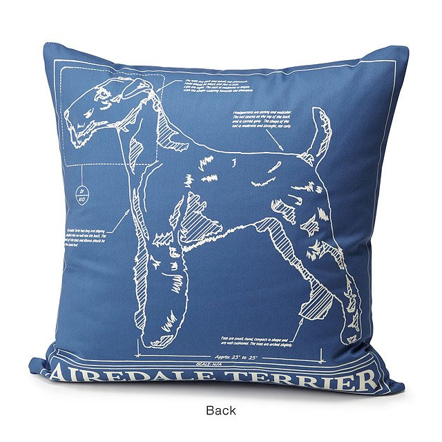 Dog Blueprint Pillows 2