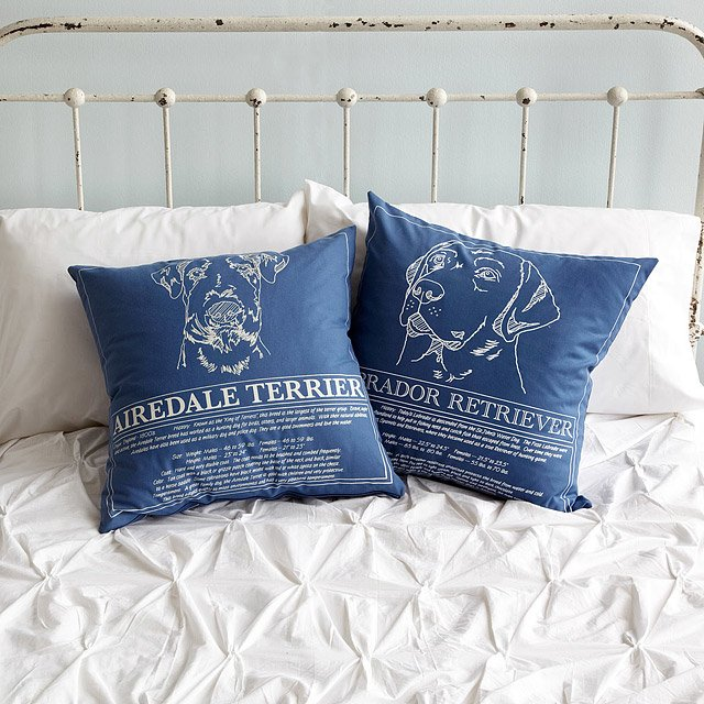 Dog Blueprint Pillows 3