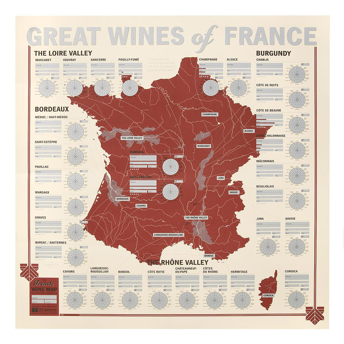 Great Wines of France Tasting Map wine tasting interactive map