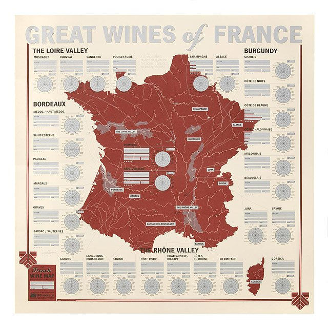 Great Wines of France Tasting Map