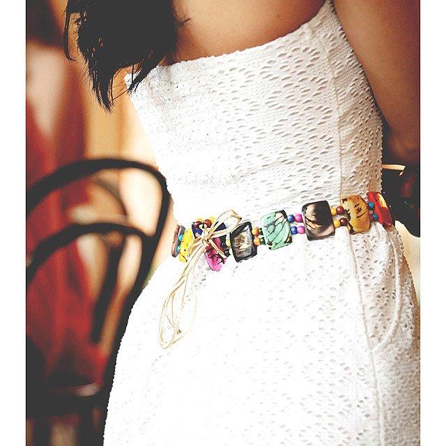 Tagua Multicolored Belt   Beaded Belt, Cool Belts