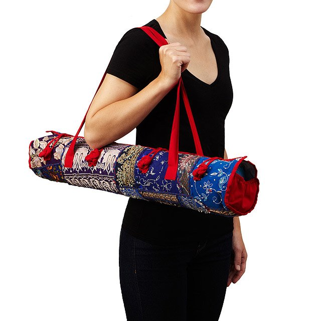 Upcycled Sari Yoga Bag