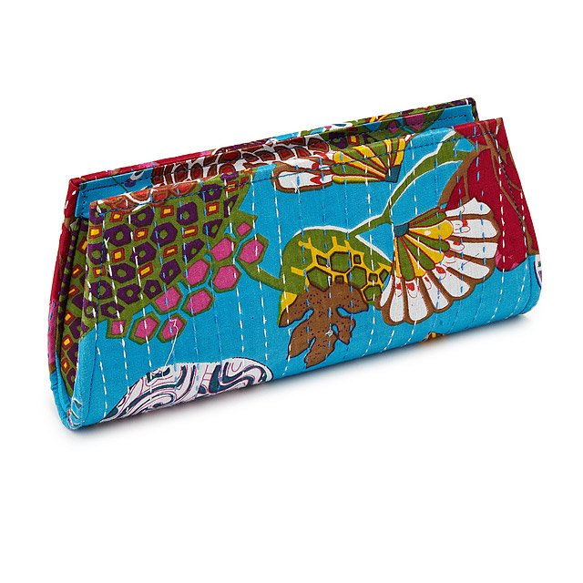 Upcycled Sari Kantha Clutch