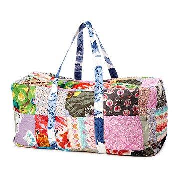 Upcycled Cotton Sari Duffel Bag