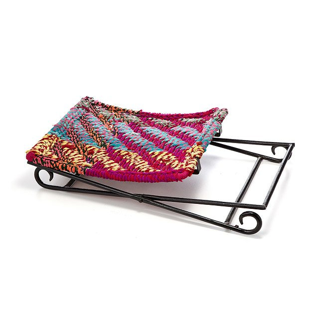 Marvelous Sari Folding Stool Upcycled Sari Cloth Chair Woven Gmtry Best Dining Table And Chair Ideas Images Gmtryco