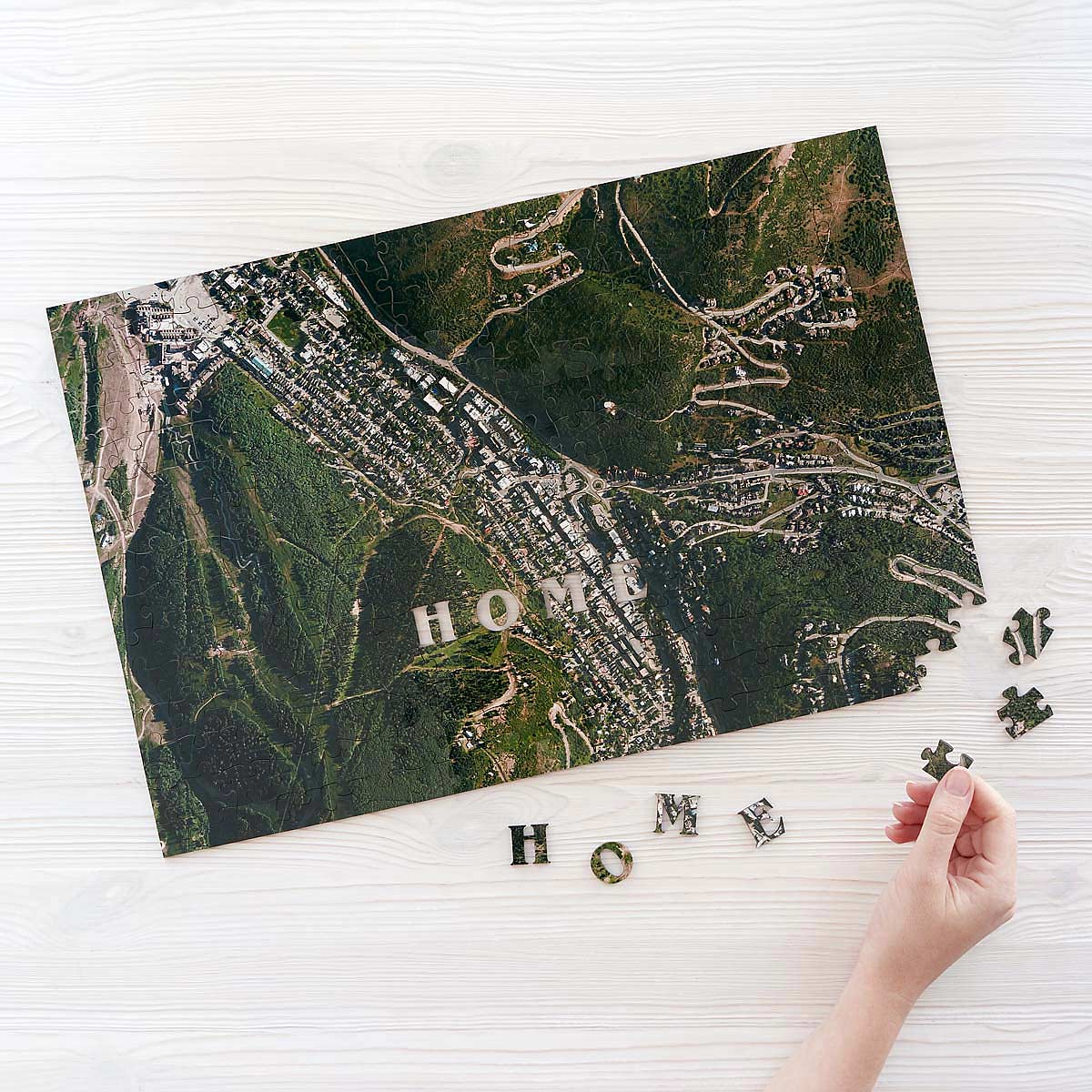 Custom Satellite Map Puzzle Custom Jigsaw Puzzle Wooden Map - The best satellite map