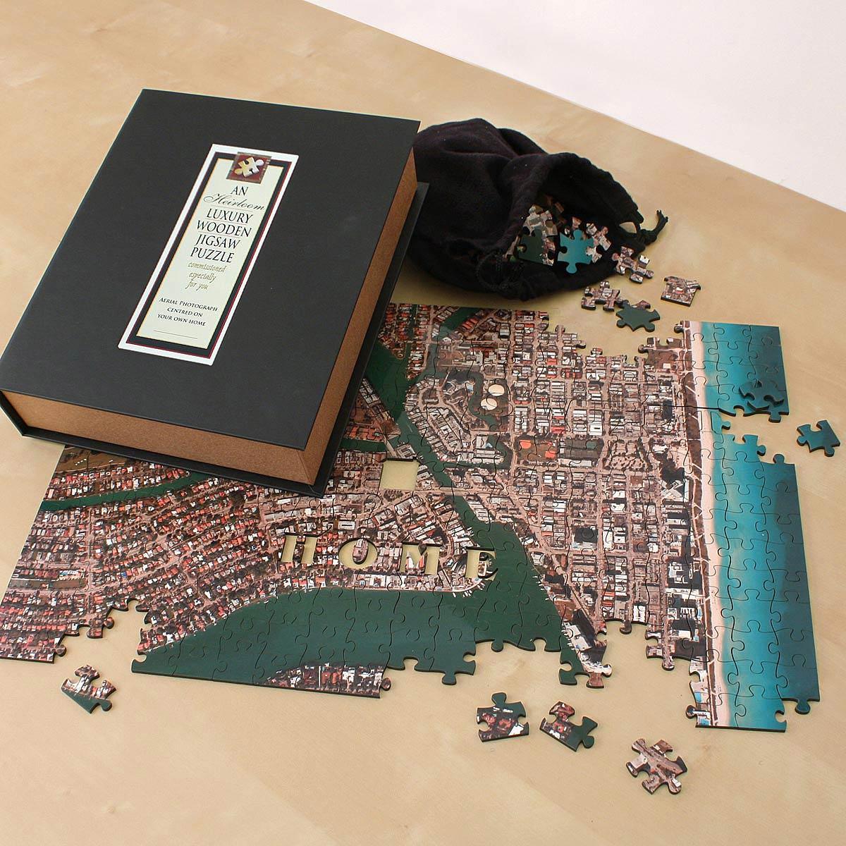 Custom Satellite Map Puzzle Custom Jigsaw Puzzle Wooden Map - Florida map jigsaw puzzle