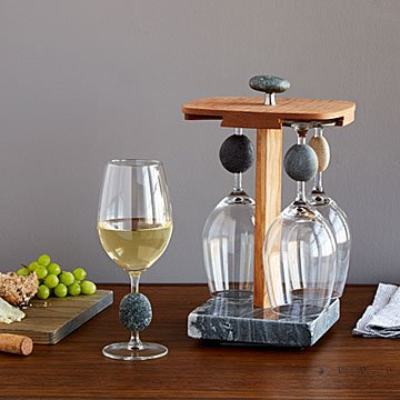 Stone Wine Glass Pirouette Set