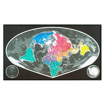 Sinu Mollweide Magnetic World Map