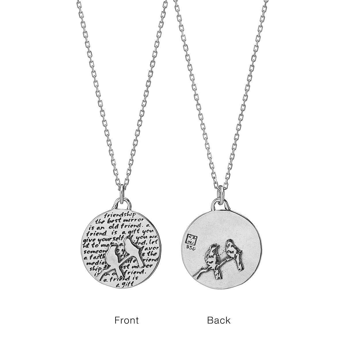 Friendship inspirational pendant inspirational jewelry handmade friendship inspirational pendant 1 thumbnail aloadofball Image collections