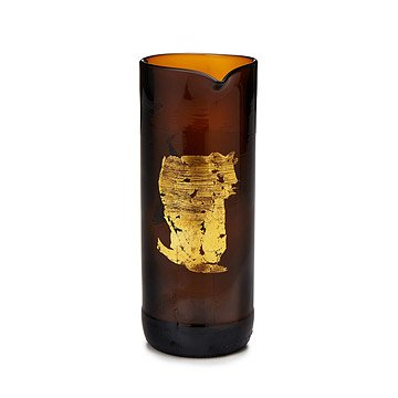 Gold Leaf Upcycled Pitcher
