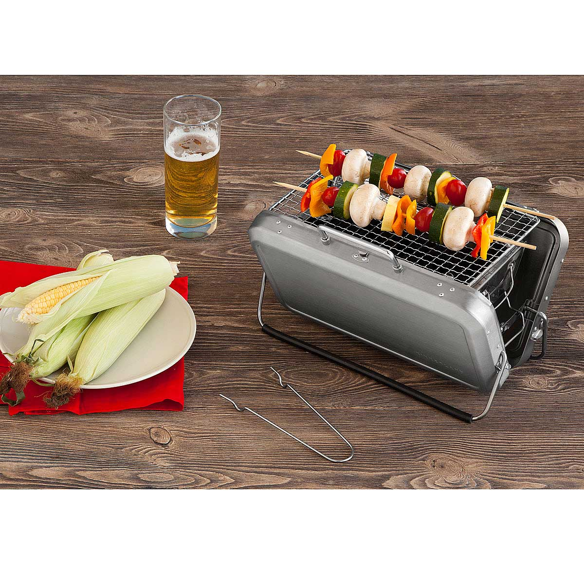 portable briefcase bbq grill 3 thumbnail