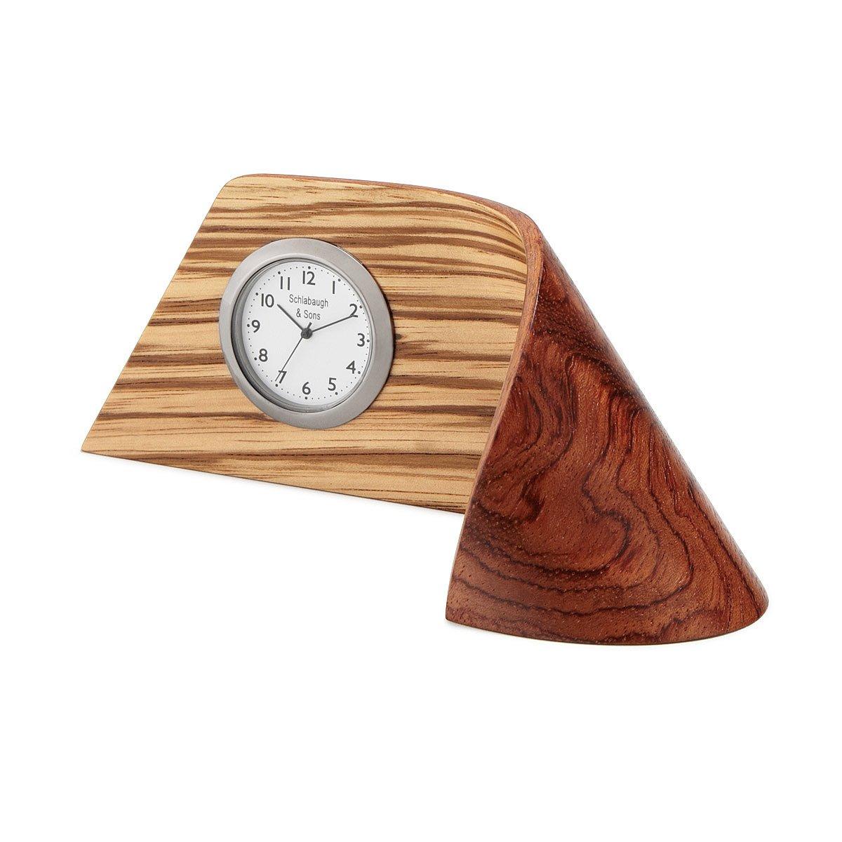 zebrawood ribbon clock  modern desk clock  uncommongoods - zebrawood ribbon clock  thumbnail
