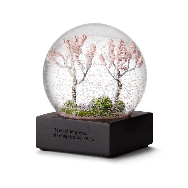 Cherry Blossom Snow Globe | Miniature Flower Petal Art | UncommonGoods