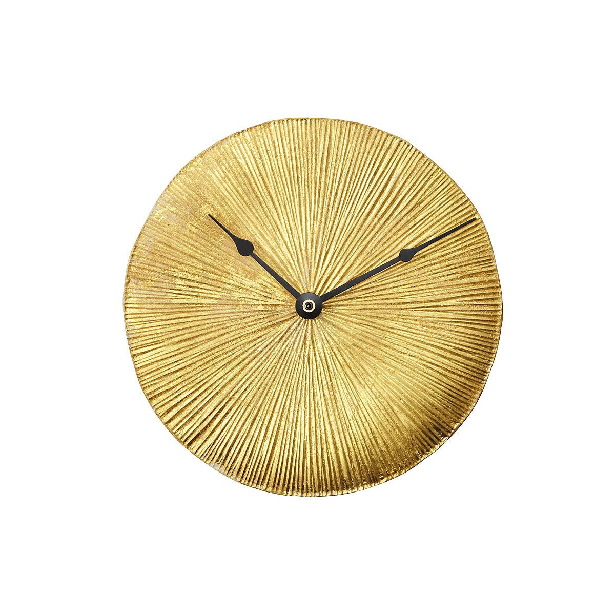 Gold Leaf Wall Clock | rustic home decor, decorative clocks, ceramic ...