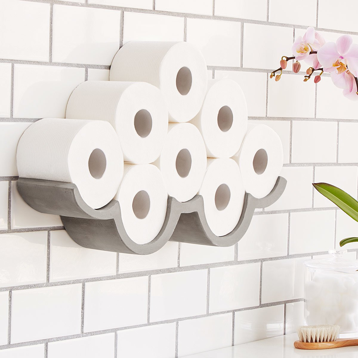 Beau Cloudy Day Toilet Paper Storage