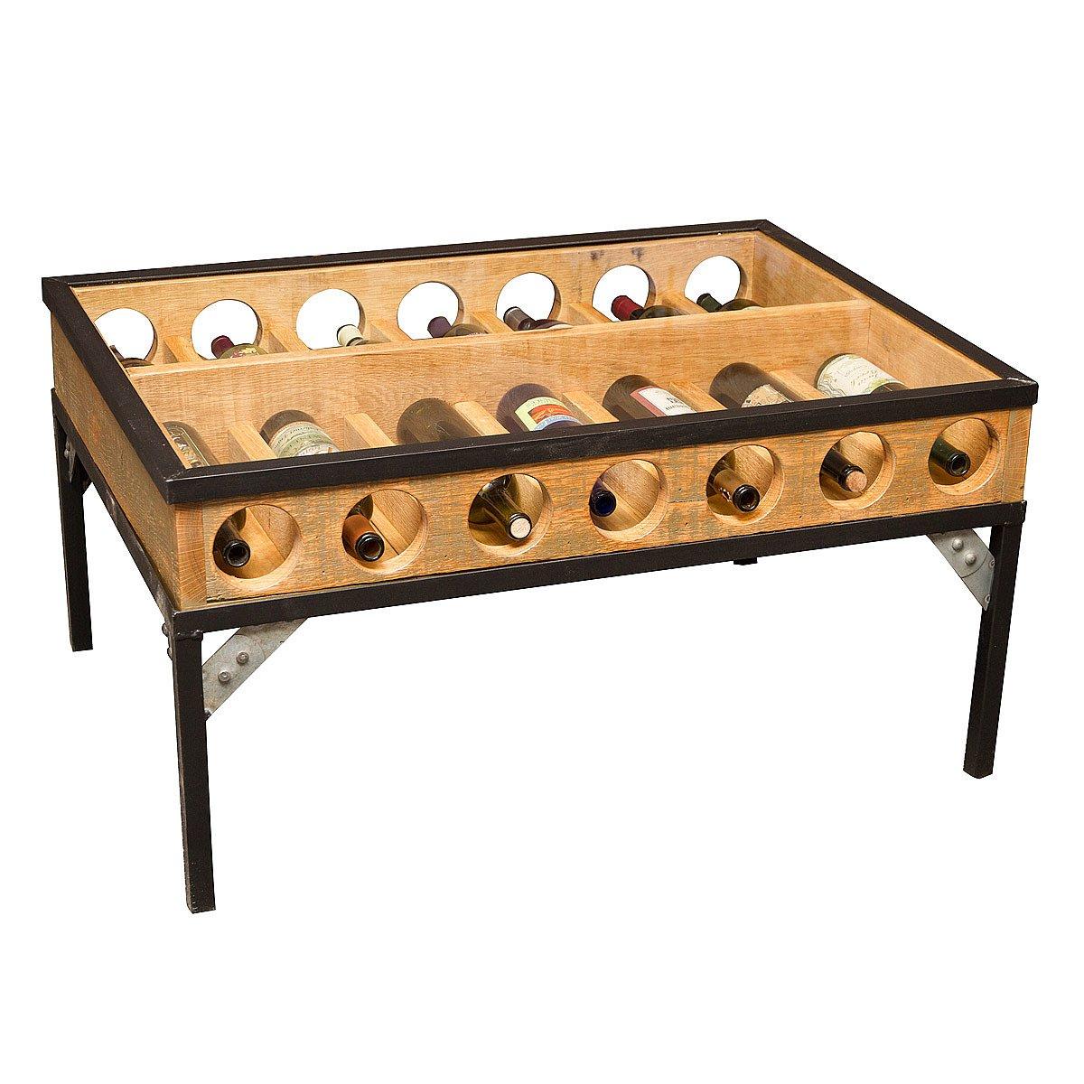wine display coffee table | wine shelves, wine rack, display table