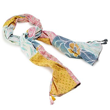 Soft Cotton Patchwork Sari Scarf