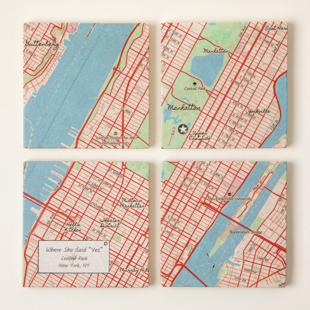 Custom Map Coaster Set | customizable coasters | UncommonGoods