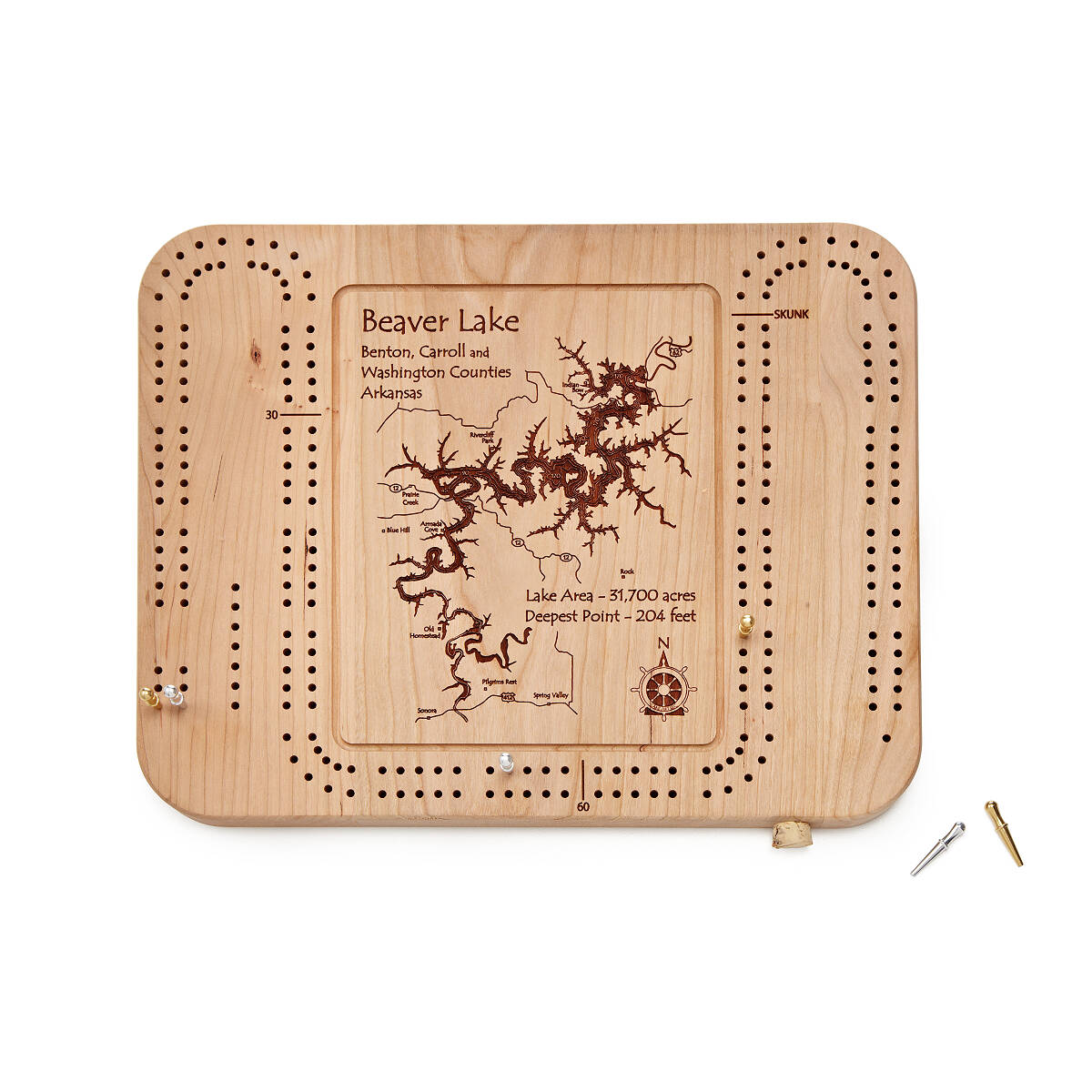 custom lake art cribbage board vacation board games uncommongoods