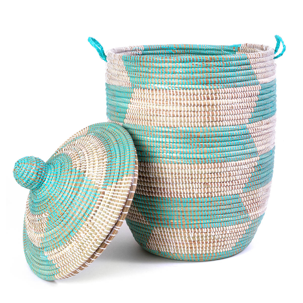 Handmade Lidded Basket Hamper 2 thumbnail