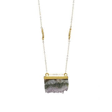 Golden Slice Agate Necklace