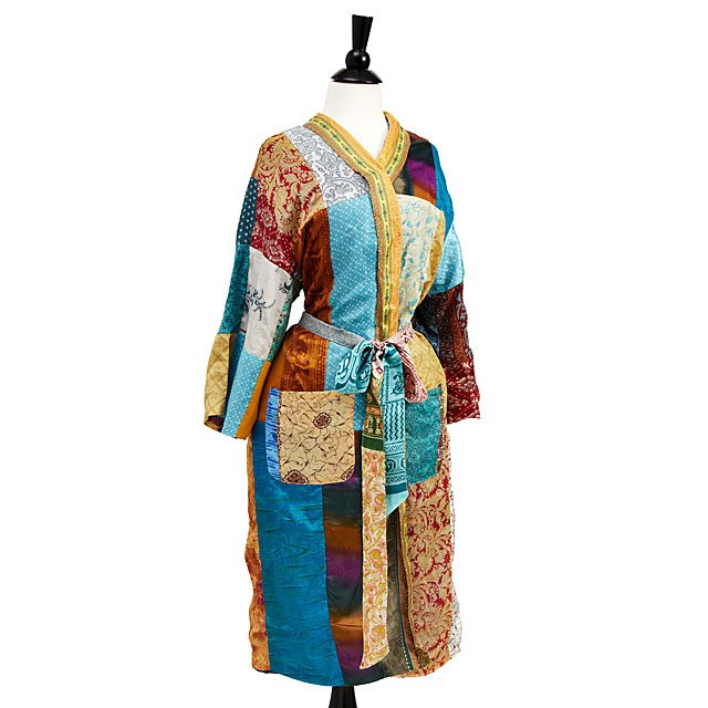 Upcycled Sari Lounge Robe