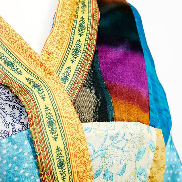 81f9334c54c8 Upcycled Sari Lounge Robe