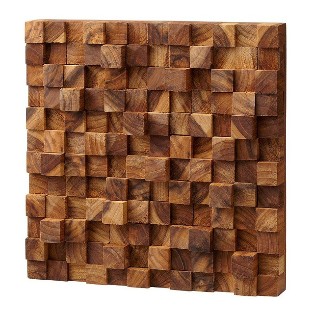 Square Takara Wall Art | Teak wood, 3D art | UncommonGoods