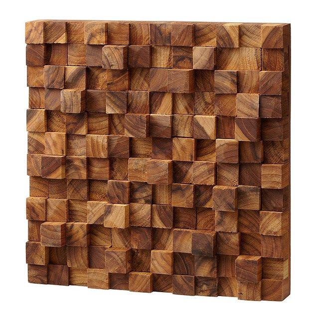square takara wall art | teak wood, 3d art | uncommongoods