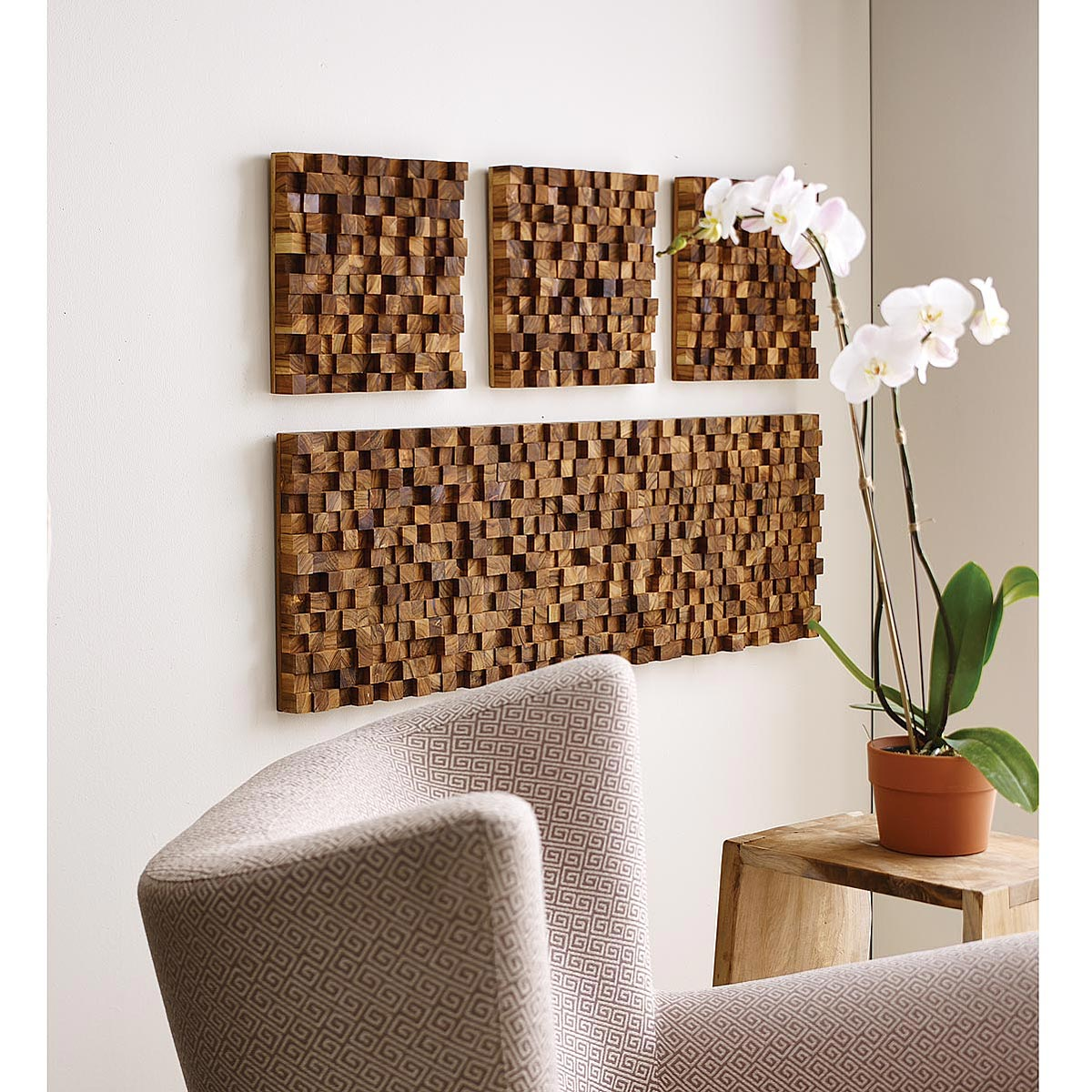 Brand-new Square Takara Wall Art | Teak wood, 3D art | UncommonGoods KE15