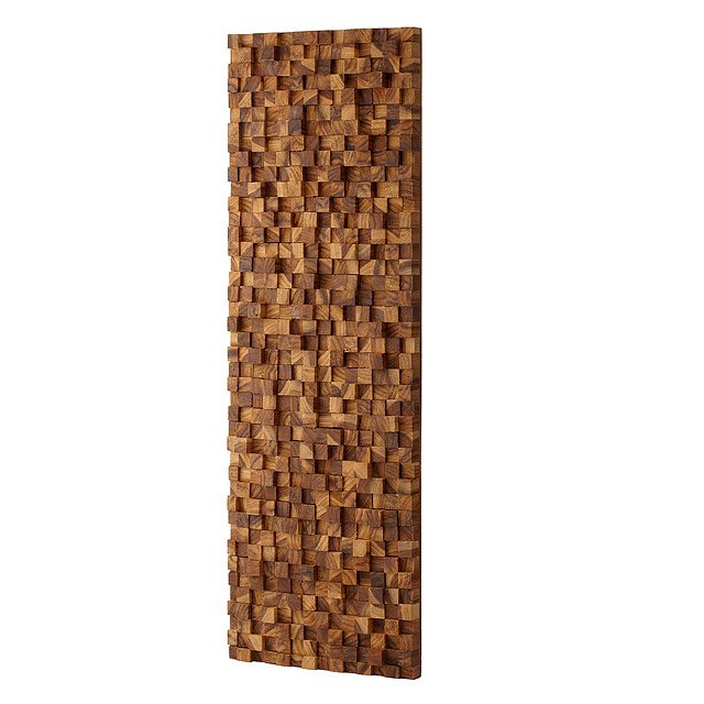 Rectangle Takara Wall Art | Teak wood, 3D art | UncommonGoods