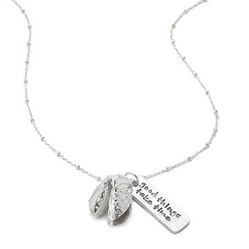 Personalized Fortune Cookie Necklace