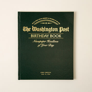 Customizable The Washington Post Custom Birthday Book