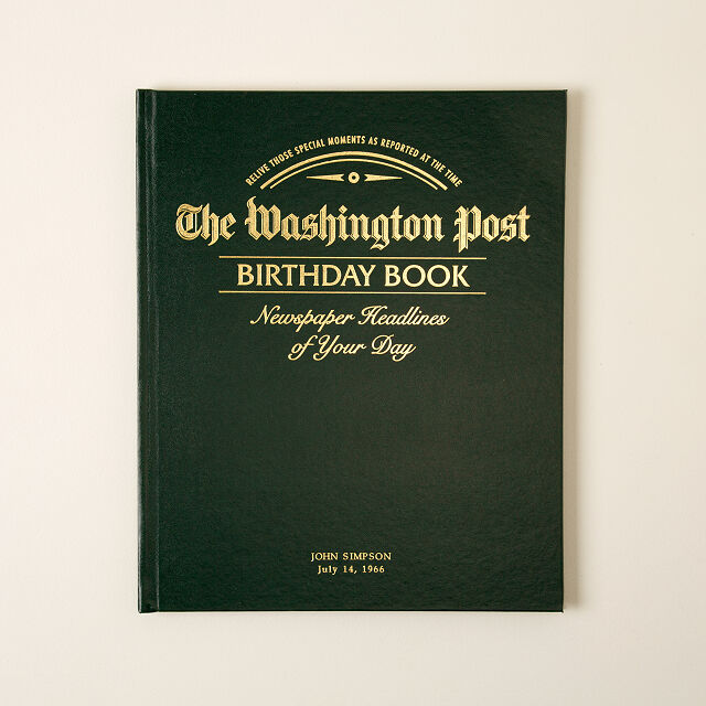 The Washington Post Custom Birthday Book