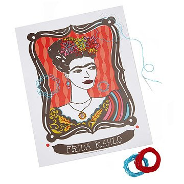DIY Embroidery Poster - Frida Kahlo