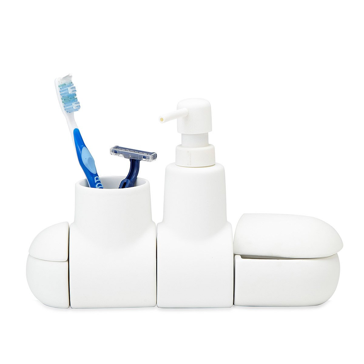 Submarino Porcelain Bathroom Accessory Set | bathroom containers ...