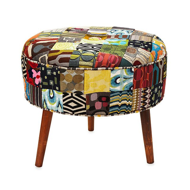 Reclaimed Patchwork Ottoman