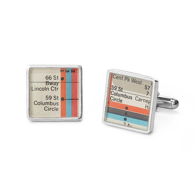 Authentic Vignelli Map Cufflinks