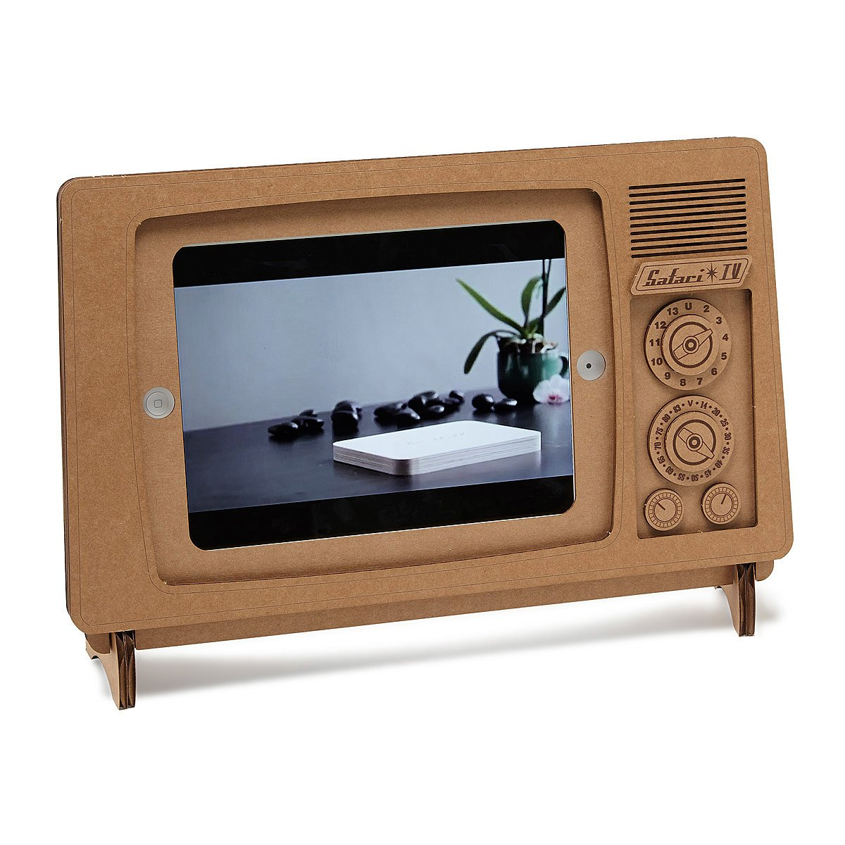 Tv Board Retro cardboard tv stand recycled stand uncommongoods