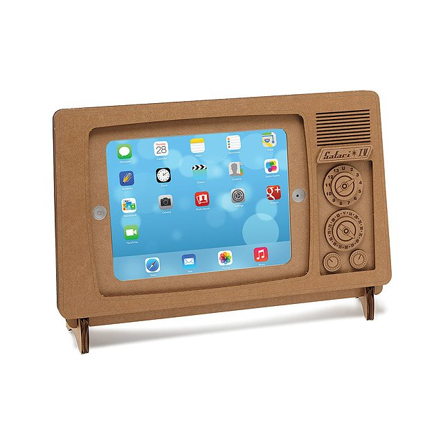 Cardboard iPad TV Stand | recycled ipad stand | UncommonGoods