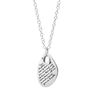 Inspirational necklaces quote jewelry uncommongoods dear daughter necklace mozeypictures Choice Image