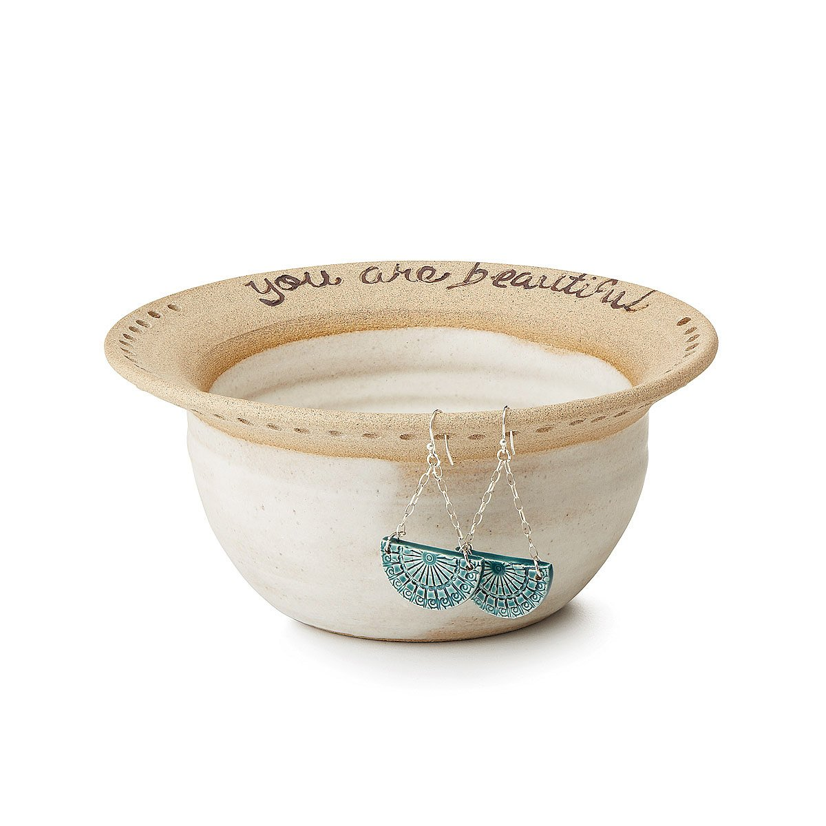You Are Beautiful Earring Bowl | handmade dish | UncommonGoods