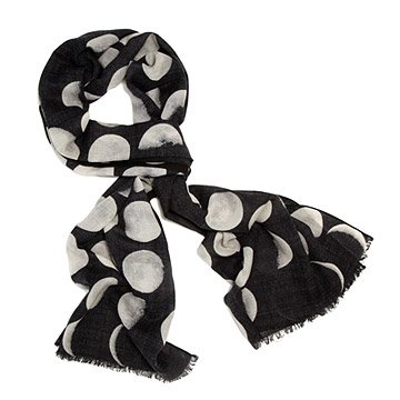 Moon Phase Lightweight Wool Scarf