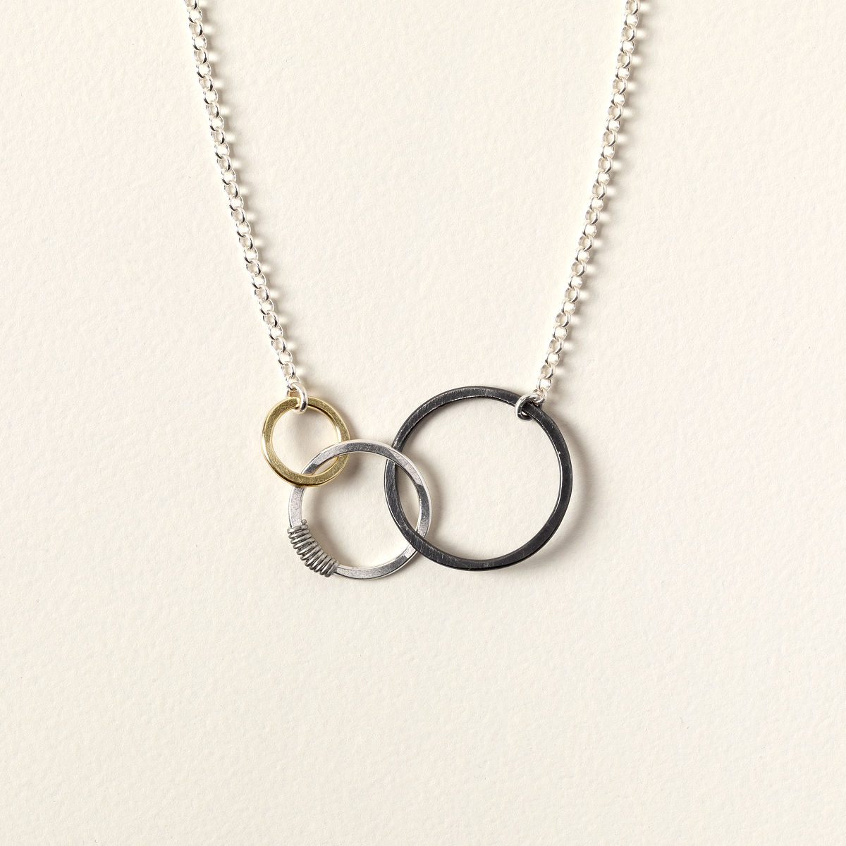 5e5faf01e2 Past Present Future Necklace | Sterling Silver & Gold Filled | UncommonGoods