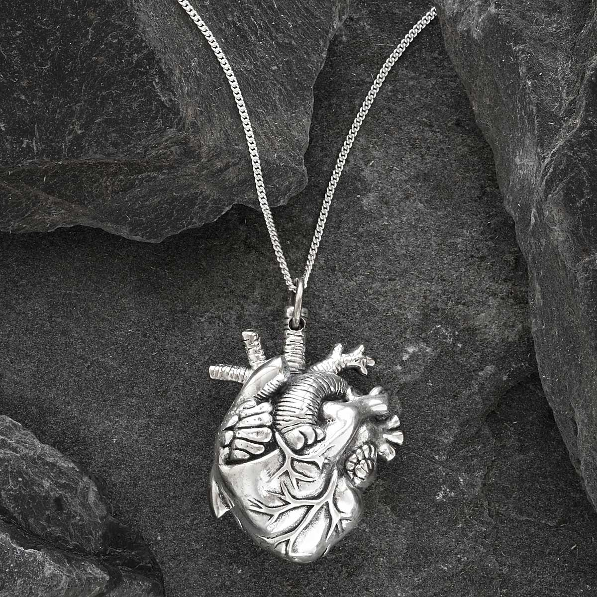 Anatomical Heart Pendant Heart Necklace Uncommongoods